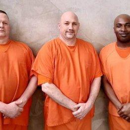 左からミッチェル・スモールズ、ウォルター・ホワイトヘッド、テリー・ラブレス受刑者