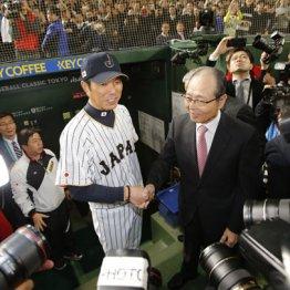 日本代表監督当時の小久保、初代WBC監督の王貞治氏と