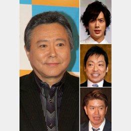 左から時計回りに、小倉智昭、DAIGO、香川照之、ヒロミ(C)日刊ゲンダイ
