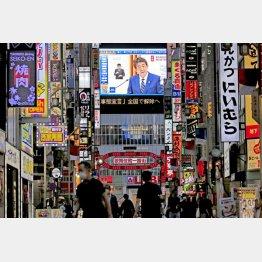 安倍首相は「日本モデル」の力と胸を張ったが、永遠に続く失敗の始まりだった(C)日刊ゲンダイ