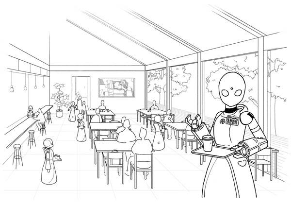 分身ロボットカフェ・オリヒメのイメージ(提供:ちびっとさん)