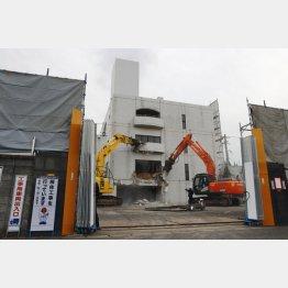 2019年、取り壊される工藤会本部事務所(北九州市)/(C)共同通信社
