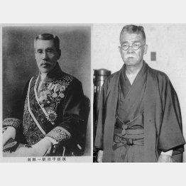 平沼騏一郎(左=国立国会図書館所蔵画像/共同通信イメージズ)と鈴木喜三郎(日本電報通信社撮影)