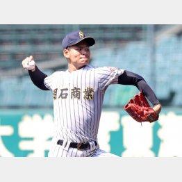 高校ナンバーワン投手といわれる中森(明石商)/(C)日刊ゲンダイ