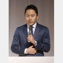 日本フェンシング協会の太田雄貴会長(C)共同通信社