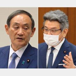 菅首相(左)と武田総務相(C)日刊ゲンダイ