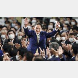 安倍なき「アベ政治」を引き継ぐ菅義偉新首相(C)共同通信社