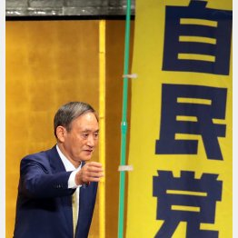 勝てる時にやる(菅義偉首相)/(C)日刊ゲンダイ