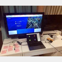 吉田さんの仕事机(提供写真)