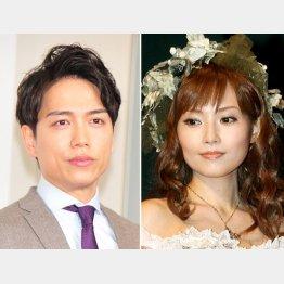2015年暮れに安倍なつみ(右)と結婚(C)日刊ゲンダイ