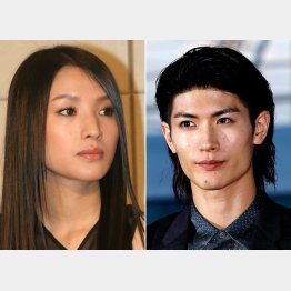 芦名星さん(左)と三浦春馬さん(C)日刊ゲンダイ