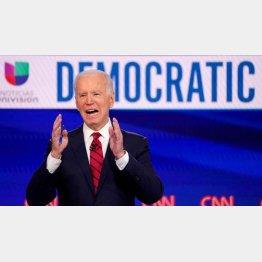 民主党のバイデン候補(C)ロイター