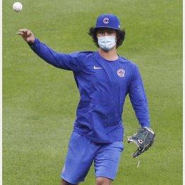 キャッチボールで調整するダルビッシュ(C)ロイター/USA TODAY Sports