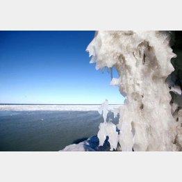 冬のエリー湖は氷が張り、対岸も見えない(C)ロイター