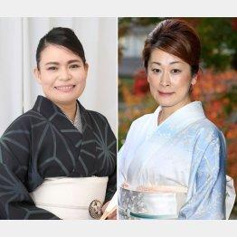 神田鯉栄(左)と神田蘭(C)日刊ゲンダイ