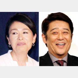 安藤優子(左)と坂上忍(C)日刊ゲンダイ