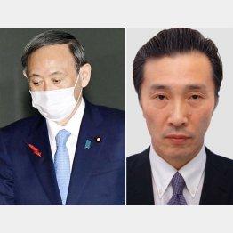 あり得ない「インタビュー」だった(菅首相とメディア出身の柿崎首相補佐官=右)/(C)共同通信社