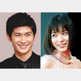 三浦春馬さん(左)と松岡茉優(C)日刊ゲンダイ