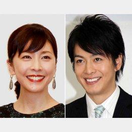 亡くなった竹内結子さんと、夫で俳優の中林大樹さん(C)日刊ゲンダイ