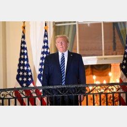 「特権」を守りたい(ホワイトハウスのバルコニーに立ち、健在を示すトランプ米大統領)/(C)ロイター