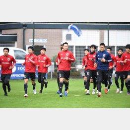 アムステルダム市内の練習場で調整する日本代表(提供)JFA