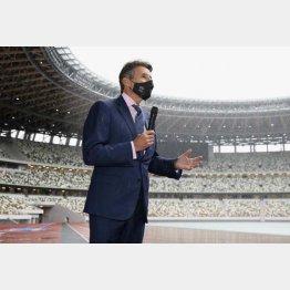 「世界選手権を日本にもってきたい」とコーツ世界陸連会長(代表撮影)