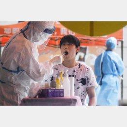 中国・武漢市では9日間で約900万人(検査を受ける市民=5月)/(C)共同通信社
