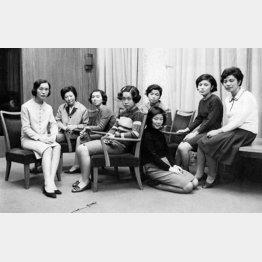 電通の企業案内誌の撮影で陽子と出会う(1968年撮影)/(提供写真)