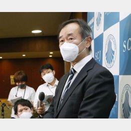 日本学術会議の梶田会長(C)共同通信社