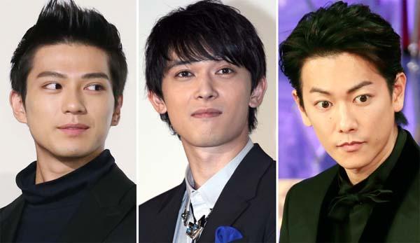 (左から)新田真剣佑、吉沢亮、佐藤健(C)日刊ゲンダイ