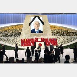 故中曽根元首相の内閣・自民党合同葬(代表撮影)