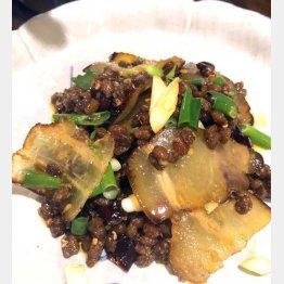 新小岩の「貴州火鍋」にて自家製干し肉と干し納豆の炒め(C)日刊ゲンダイ