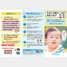 10月1日から大阪・寝屋川市は「子どもの健やかな成長のための受動喫煙防止条例」を施行
