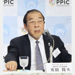 PPIHの安田隆夫会長兼最高顧問(C)共同通信社