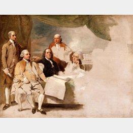 1783年のパリ条約(C)Wikimedia Commoms