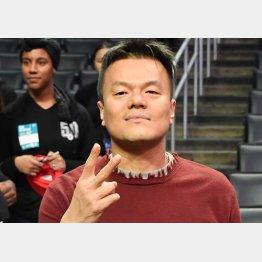 元は歌手のJ.Y.Park ことパク・ジニョン氏(C)ゲッティ/共同通信イメージズ