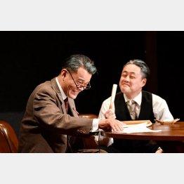 狩野和馬(右)と内田健介(撮影・鈴木淳)