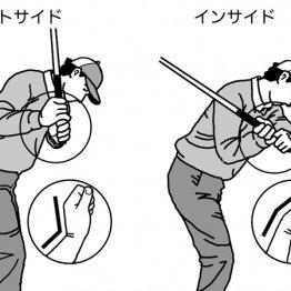 ダウンスイングでのヘッド軌道 左手首掌屈でスライス解消