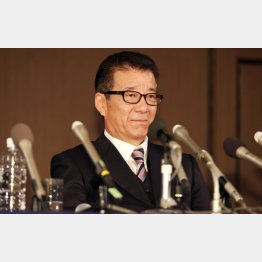 松井市長は引退を表明(C)日刊ゲンダイ