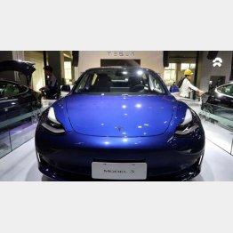 中国で生産されている米テスラ社のEV「モデル3」/(C)ロイター