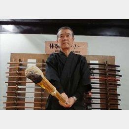 日本殺陣道協会の八木哲夫会長(C)日刊ゲンダイ