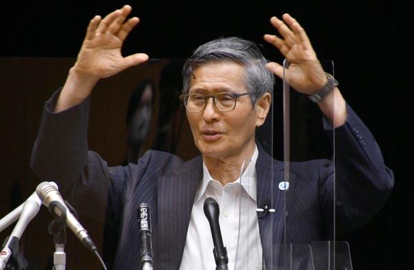 まるで「問題なし」と言わんばかり(尾身茂会長)/(C)日刊ゲンダイ