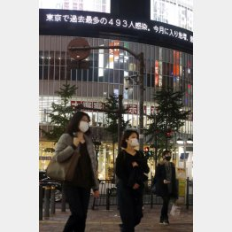 東京の新規感染者は過去最多の493人(C)日刊ゲンダイ