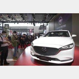 北京国際モーターショーで披露されたマツダの創立100周年記念の新EV車両(C)共同通信社