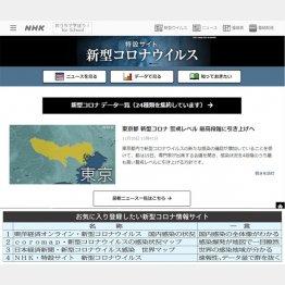 圧倒的な情報量(NHK特設サイトから)