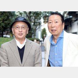 石倉三郎(右)と聞き手の吉川潮(C)日刊ゲンダイ