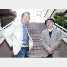 石倉三郎(左)と聞き手の吉川潮(C)日刊ゲンダイ