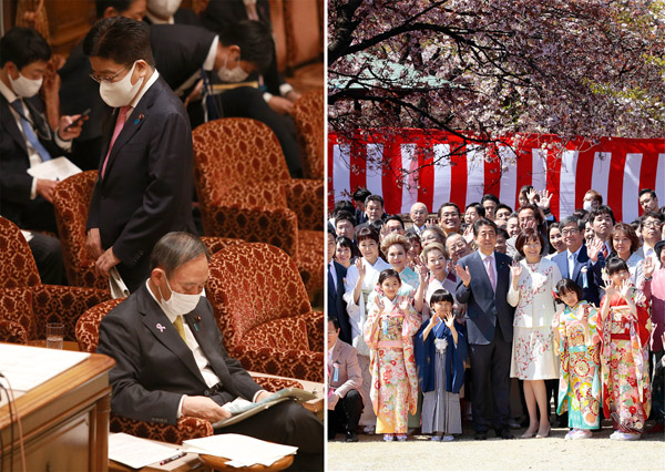 「指導力がない(菅首相)」が37%、「納得出来ず(安倍前首相の桜を見る会前夜祭説明)」が75%(C)日刊ゲンダイ