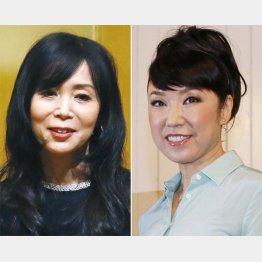 竹内まりや(左)と松任谷由実(C)共同通信社