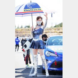 大原がおりさん、44歳にして Owltech Lady としてレースクイーンに(C)三橋仁明  N-RAK PHOTO AGENCY